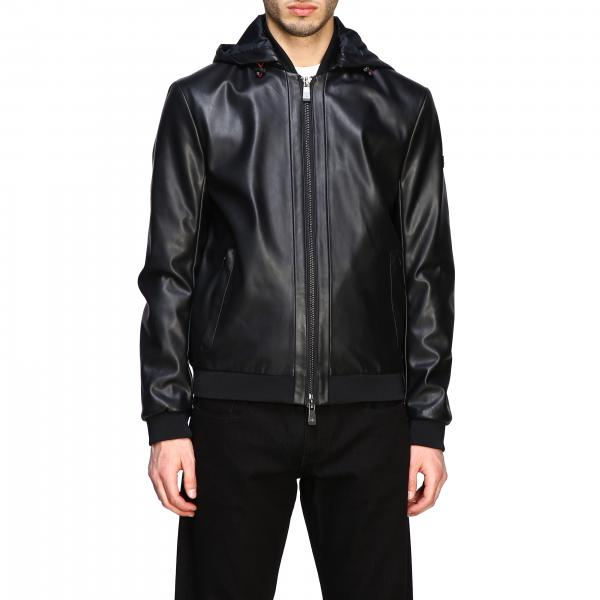 Bomber Armani Exchange in pelle sintetica