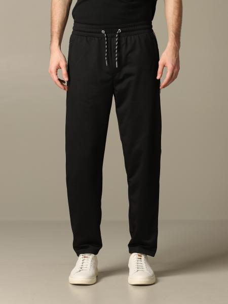 Armani Exchange jogging trousers in acetate with logoed bands