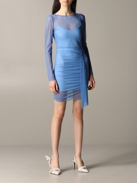 Patrizia Pepe Kleid aus drapiertem Tüll