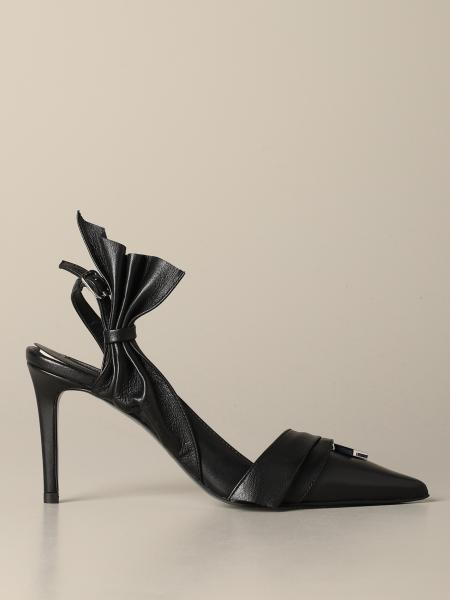 Patrizia Pepe sling back in leather with logo