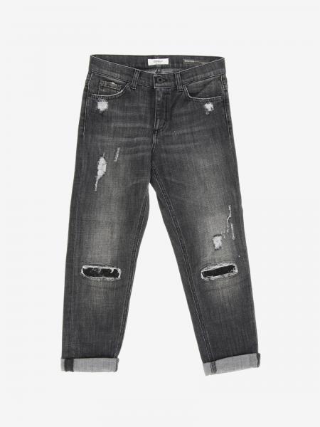Jeans Brighton Dondup coupe carotte avec déchirures
