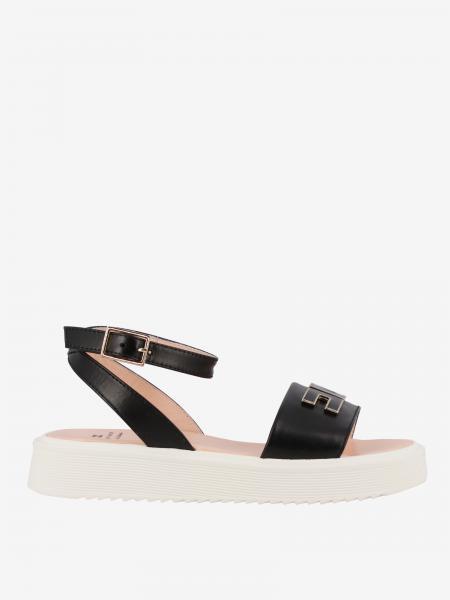 Sandalo Elisabetta Franchi in pelle con logo