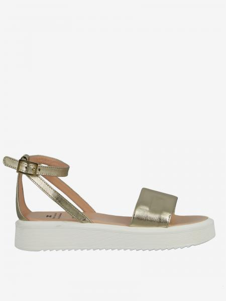 Elisabetta Franchi 金属感真皮凉鞋