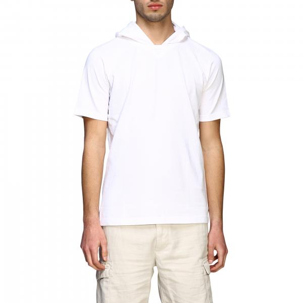 T-shirt à manches courtes Eleventy avec capuche