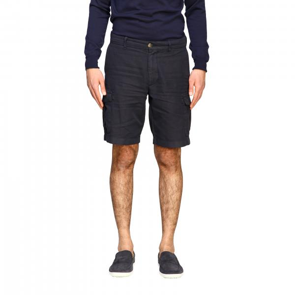 Eleventy kargo bermuda shorts in cotton and linen