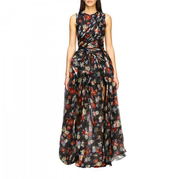 Платье длинное из шелка с принтом Женское Ermanno Scervino