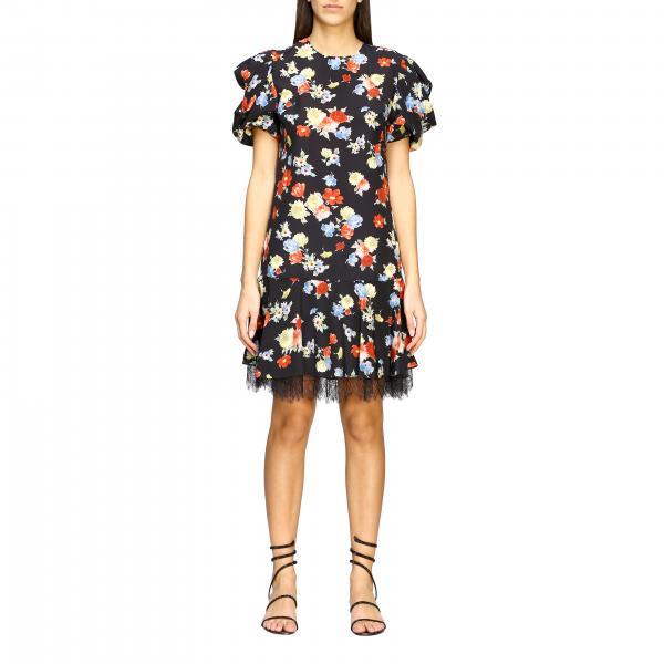 Платье шелковое с принтом  Женское Ermanno Scervino
