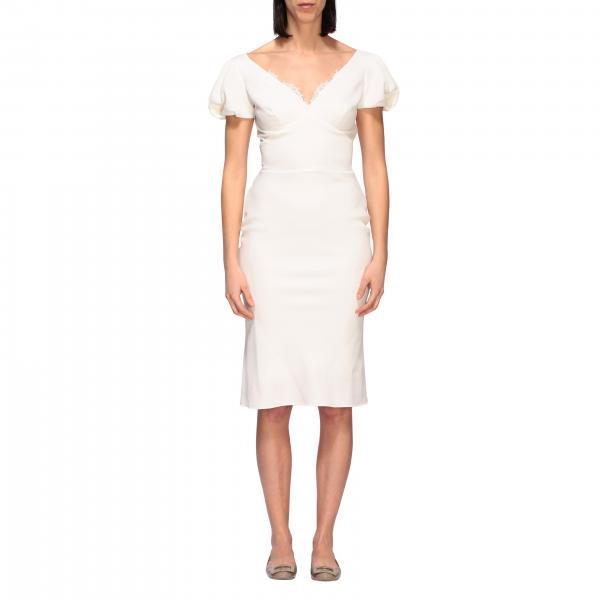 Платье длинное с кружевом Женское Ermanno Scervino