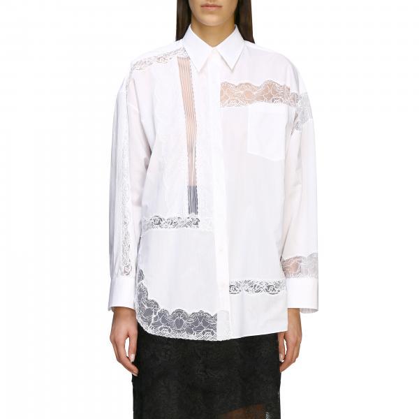 Рубашка с кружевными деталями Женское Ermanno Scervino
