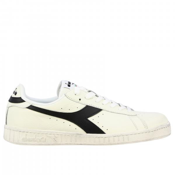 Sneakers Game l low waxed Diadora in pelle martellata