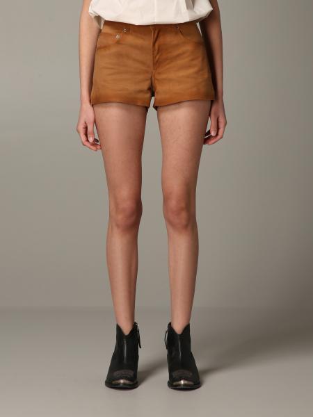 Shorts Golden Goose in camoscio