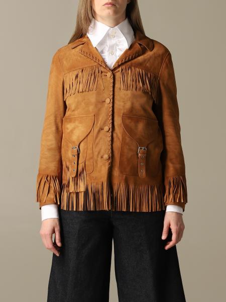 Saharan Golden Goose suede jacket with fringes