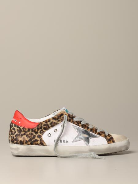 Sneakers Superstar Golden Goose in canvas e cavallino animalier