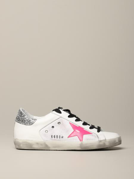 Sneakers Superstar Golden Goose in pelle used e canvas
