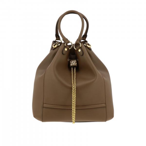 Fendi leather bucket bag with logo