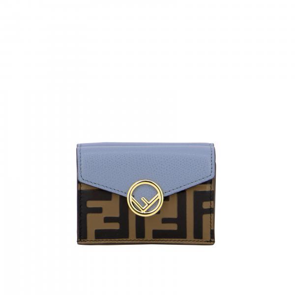 Portafoglio continental Fendi in pelle con monogramma FF embossed