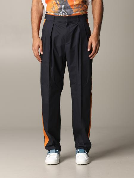 Valentino slim trousers with contrasting bands