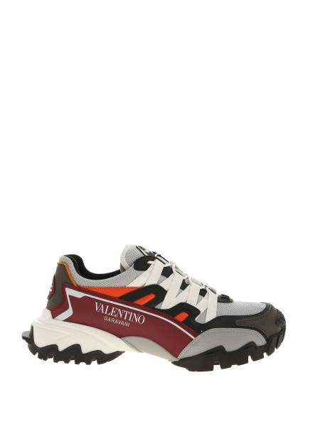 Valentino Garavani Climbers sneakers in bicolor leather and micro mesh