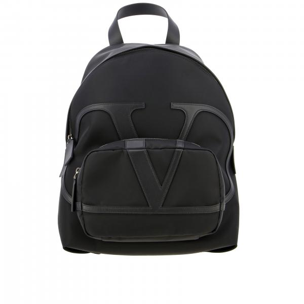 Valentino Garavani backpack in canvas and leather with big VLogo