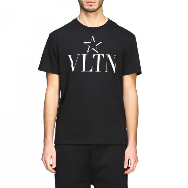 Valentino crew-neckline t-shirt with VLTN and star print