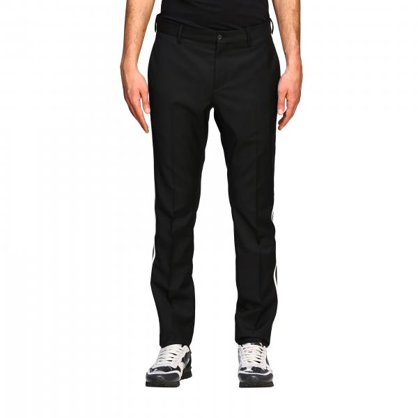 Valentino slim trousers with striped bands