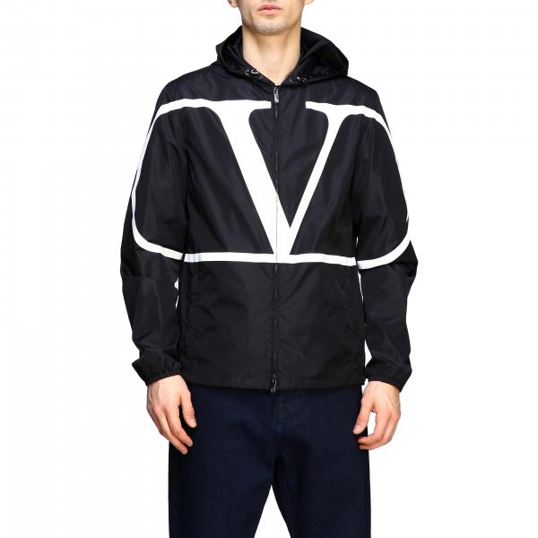 Valentino nylon jacket with hood and VLogo print