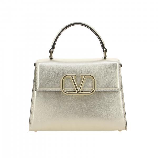 Valentino Garavani Vlogo金属感真皮手袋