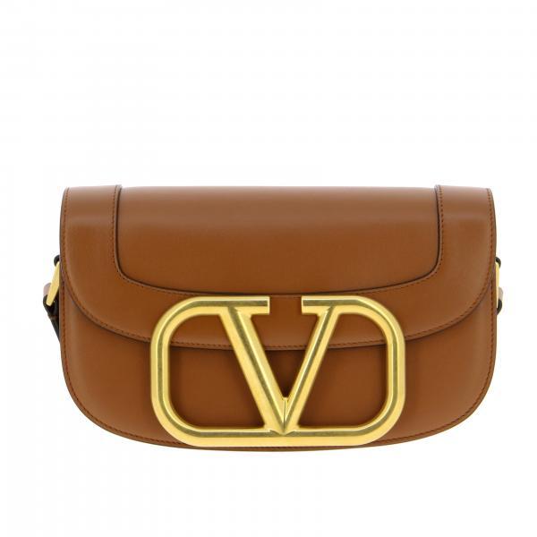 Сумка через плечо из кожи с логотипом Женское Valentino Garavani
