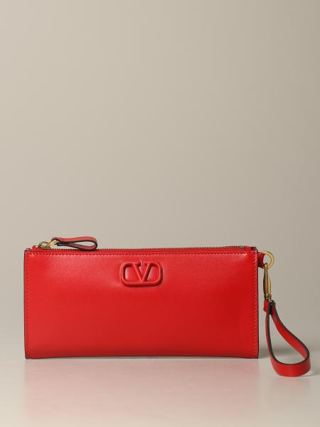 Valentino Garavani VLogo leather clutch
