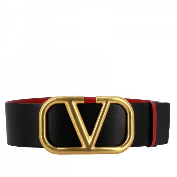 Cintura VLogo Valentino Garavani in pelle reversibile