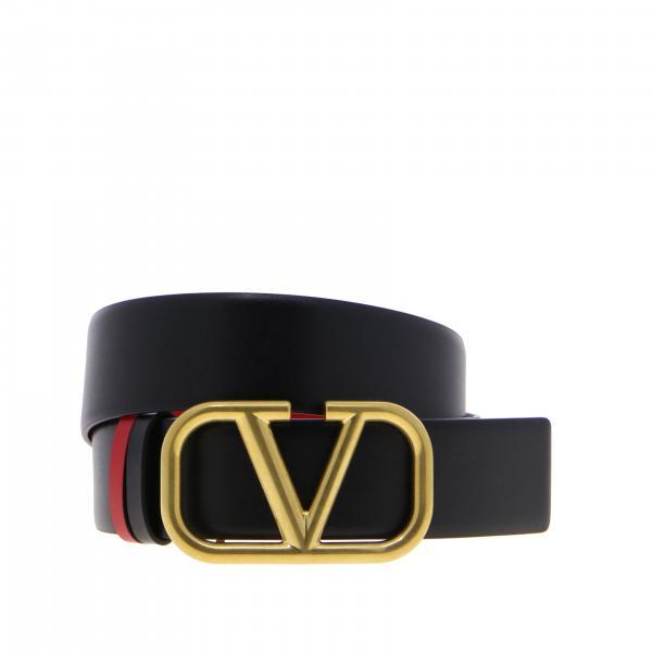 Valentino Garavani Vlogo真皮腰带皮带