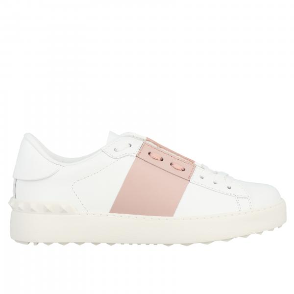 Valentino Garavani Open leather sneakers with band