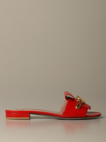 Sandalo basso vernice con logo