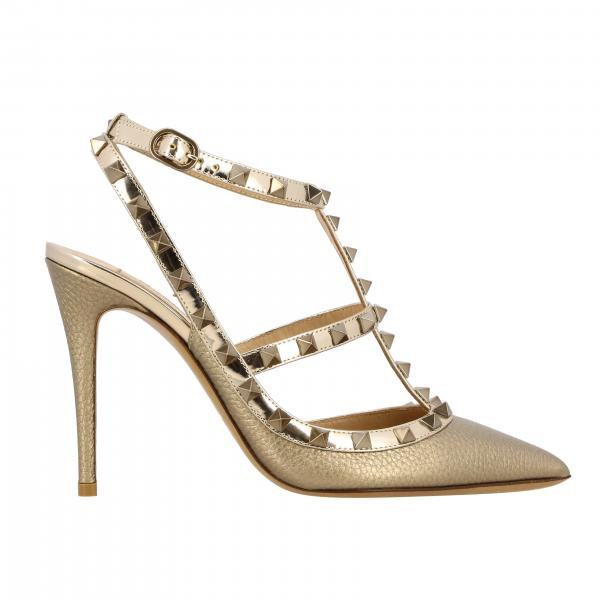 Valentino Garavani Rockstud pumps in laminated grained leather