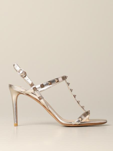 Rockstud Velantino Garavani sandal in laminated leather