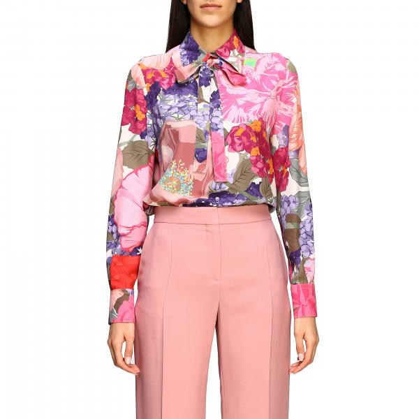 Valentino silk shirt with floral print