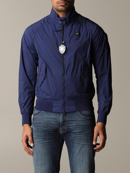 Bomber Blauer in nylon con zip