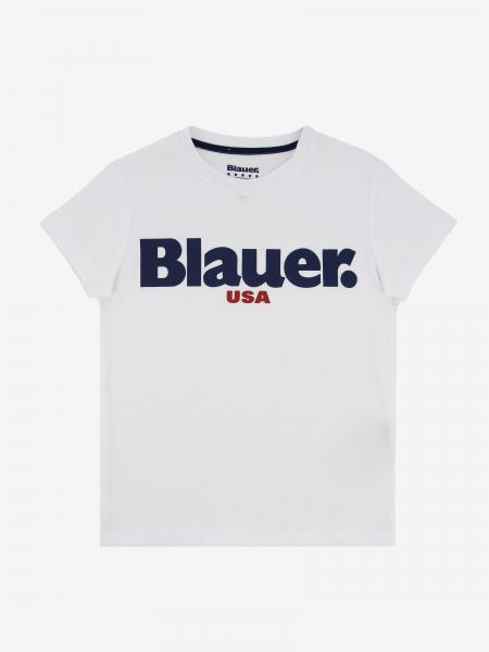 T-shirt Blauer con stampa logo