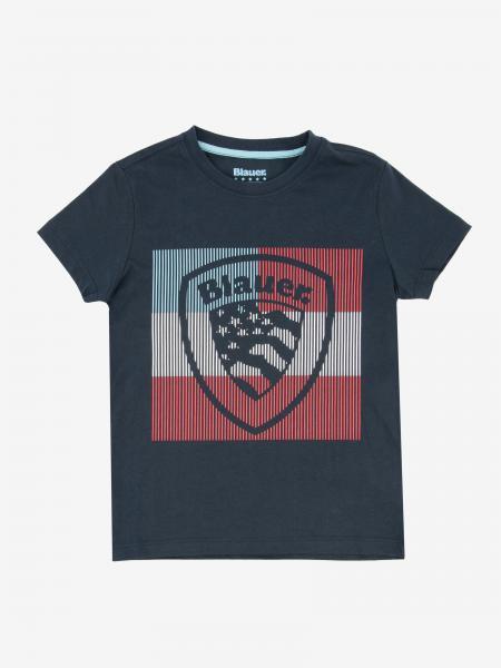 T-shirt Blauer con stampa logo crest