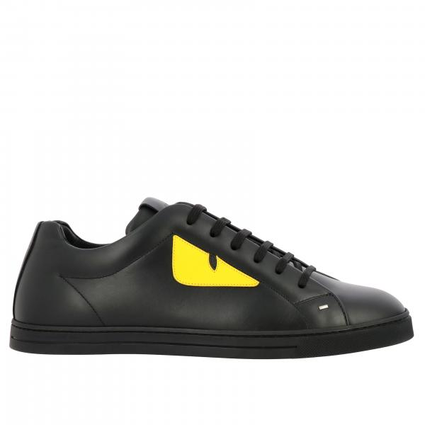Sneakers Fendi in pelle con Bugs colorato