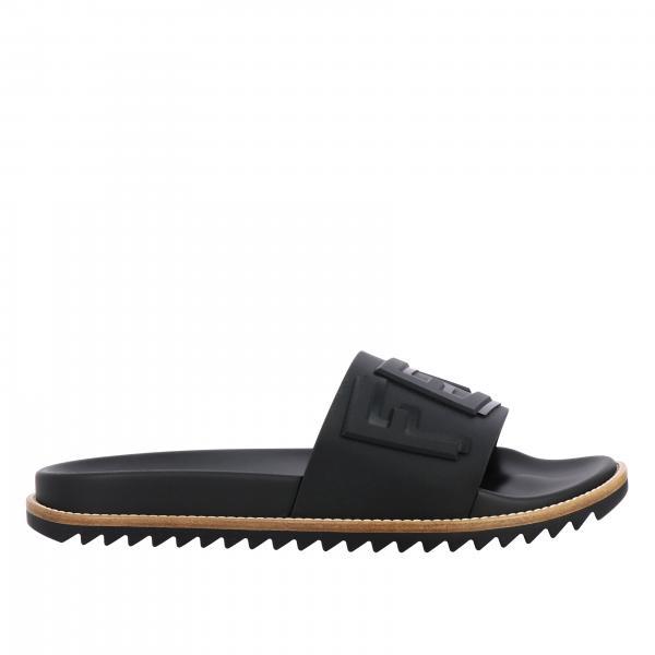 Fendi 同色系字母装饰拖鞋