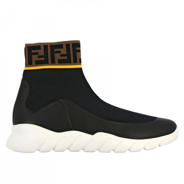 Sneakers slip on Fendi a calzino