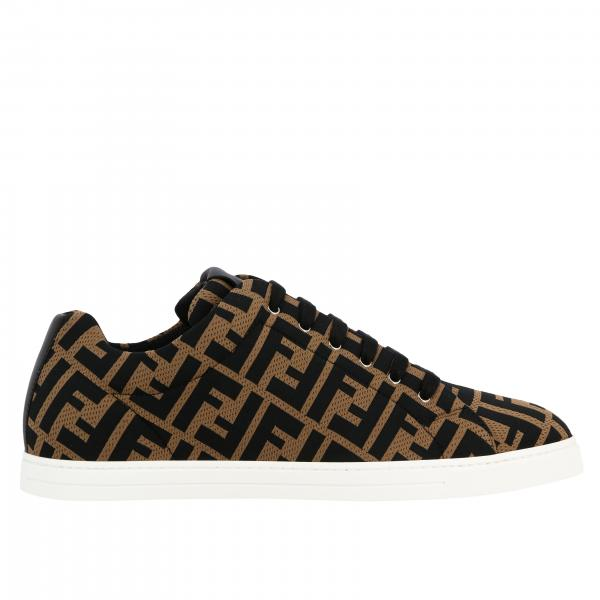 Sneakers Fendi in tela micro traforata con stampa FF all over
