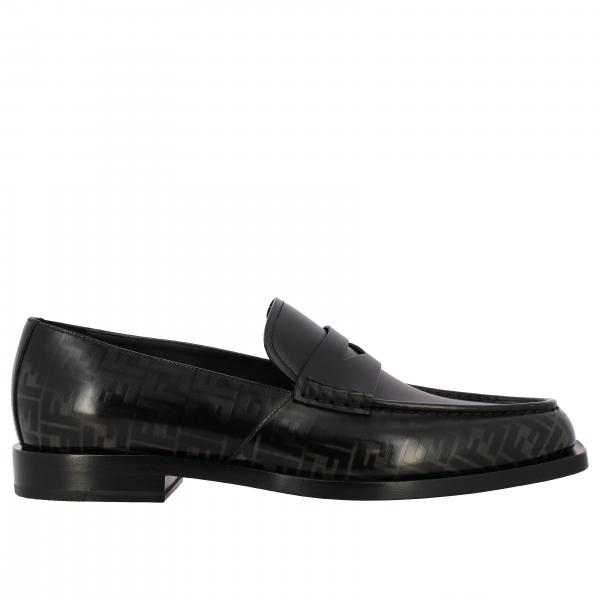Fendi leather loafer with FF logo