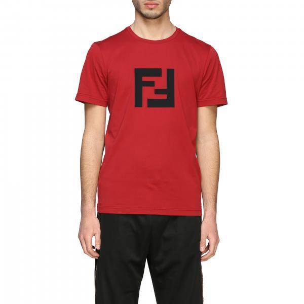 T-shirt Fendi a girocollo con monogramma FF