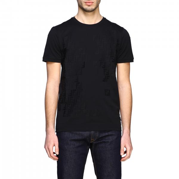 Fendi crew-neck t-shirt with FF monogram