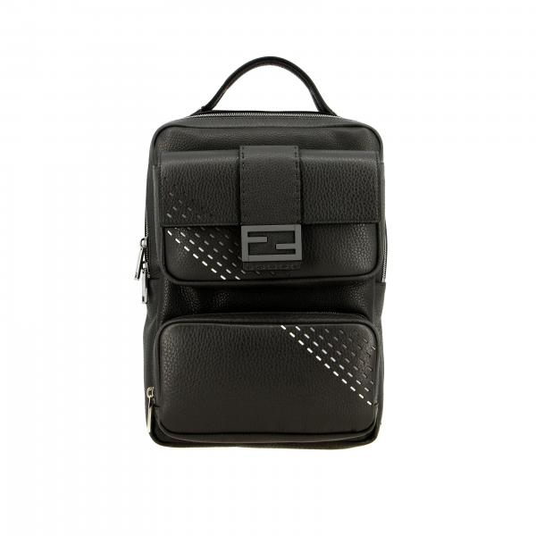 Fendi backpack in textured leather with FF monogram