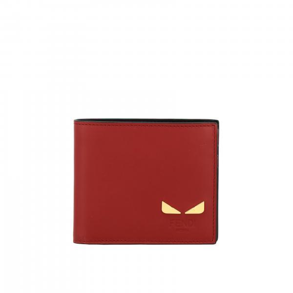 Portafoglio portafoglio fendi in pelle liscia con mini bugs Fendi - Giglio.com