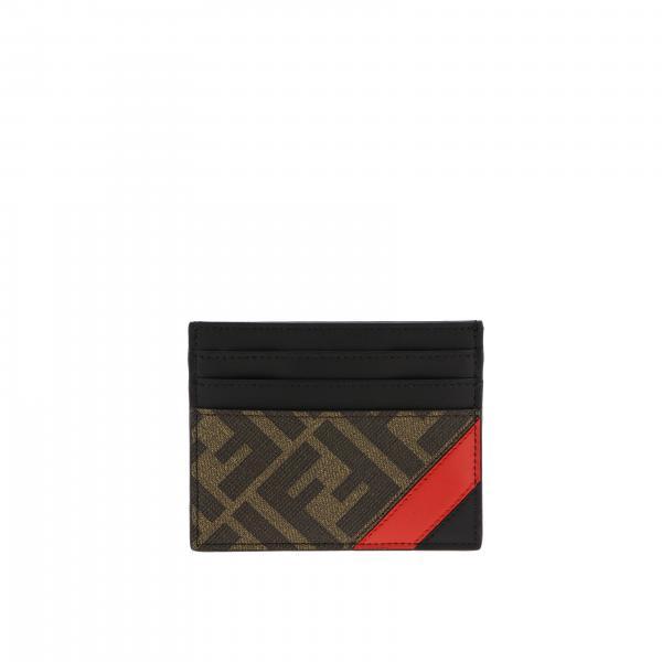 Porta carte di credito Fendi con monogramma FF