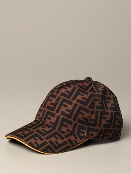 Chapeau style baseball avec monogramme FF Fendi all over